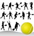 Set of tennis player vector