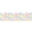 Musical instruments horizontal seamless pattern vector