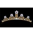 Gold tiara with diamonds vector