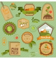 Eco labels vegetables vector