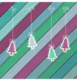 Gingerbread with christmas tree branches  eps8 vector