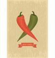 Hot chili poster vector