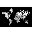 Text world map vector