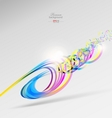 Abstract color ribbons background vector