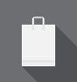 White paper bag for shopping vector
