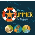 Summertime traveling template vector