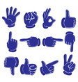 Hands in blue colors vector