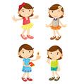 4 girls vector