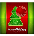 Balls and fir trees on red and green color vector
