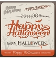 Set of happy halloween greetings typography vector