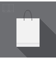White paper bag for shopping cutting vector
