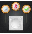 Flat of condom vector