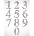 Floral numbers set typeface vector