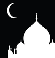 Mosque silhouette vector