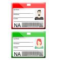 Id card vector