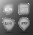 Buy now glass buttons vector