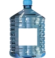 Plastic bottle of water vector