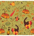 The pattern for the autumn holidays vector