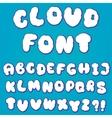 Cloud alphabet for design vector