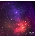 Colorful space galaxy background with light vector