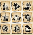 Icons autumn vector