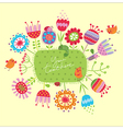Greeting card with funny birds vector