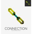 Minimal line design logo chain icon vector