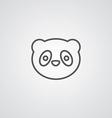 Panda outline symbol dark on white background logo vector
