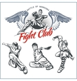 Mma labels - mixed martial arts design vector