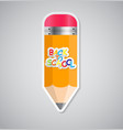 Pencil sticker label vector