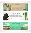 Spa banners horizontal vector