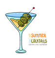 Cocktails one cartoon 11 vector