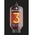 Nixie radio tube vector