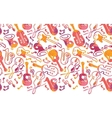 Colorful musical instruments horizontal seamless vector