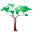 Worldmap on tree vector