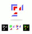 Abstract business logo design vector