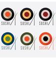 Sushi flat design set vector