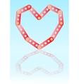 Metal constructing heart vector