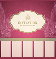 Retro princess invitation template vector