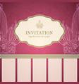 Retro princess invitation template vector