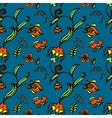 Doodle bird and flower seamless pattern vector