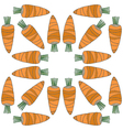 Seamless vegetables pattern of carrots vector