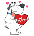 Puppy love valentines dog vector