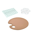 Set of wooden palette and plastic palettes vector