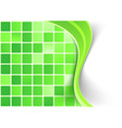 Bright green tile background template vector