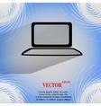 Notebook flat modern web button on a flat vector