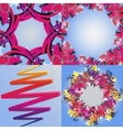 Set of abstract rainbow colored backgrounds with vector