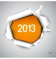 Torn paper with space for text 2013 vector