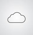 Cloud outline symbol dark on white background logo vector