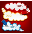 Colorful bubbles for speech 2013 new year vector